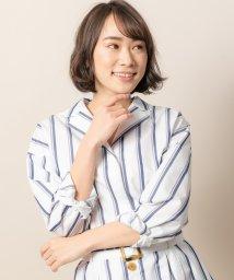 TONAL/【テレビ着用】マルチストライプオープンカラーシャツ/501596490