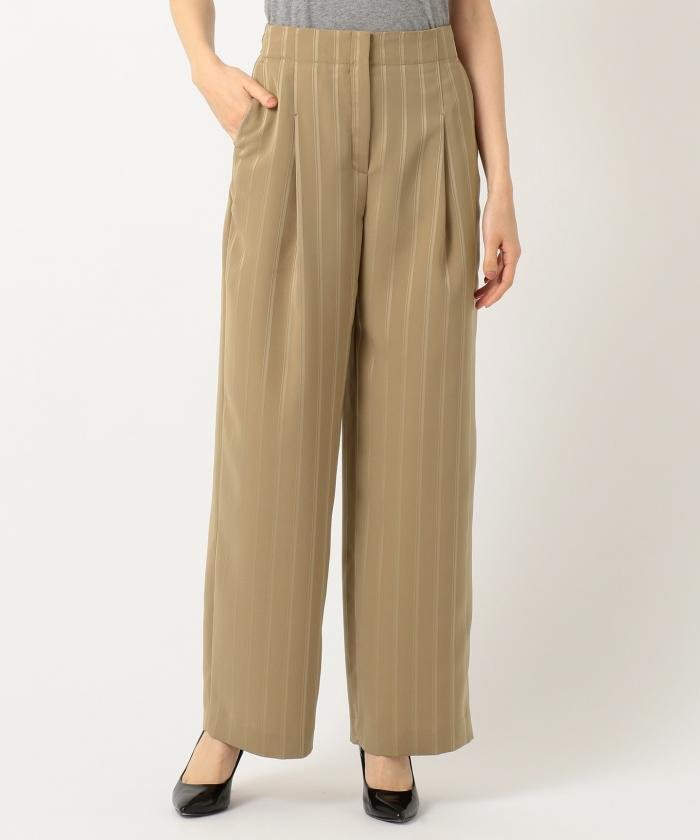 【VERY3月号掲載】Stripe Jaquard ワイド パンツ