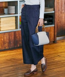 J.PRESS LADIES(LARGE SIZE)/【洗える】8oz Stretch Denim ワイドパンツ/501597928