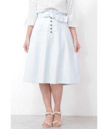 PROPORTION BODY DRESSING/ウエストリボンカラーツイルフレアスカート/501586069