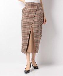 actuelselect/【blanc basque】バレンシアチェック配色切替スカート/501587802