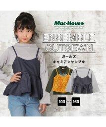 MAC HOUSE(kid's)/Navy ガールズ キャミアンサンブル MH/NV667G/501596180