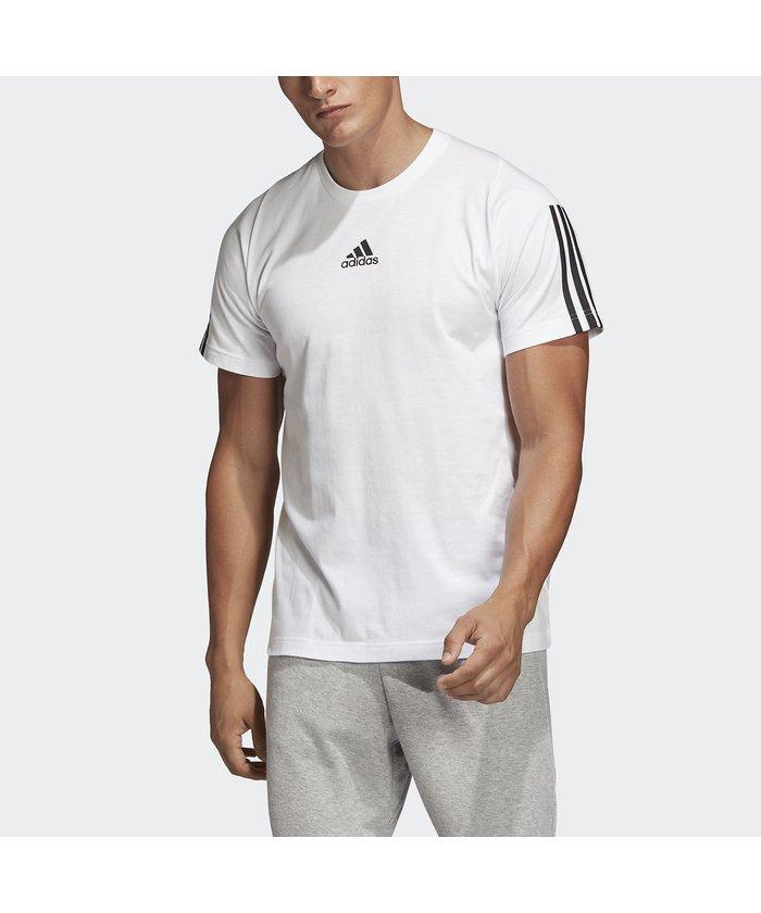 アディダス/メンズ/M MUSTHAVES 3STRIPES Tシャツ