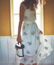 Noela/★【美人百花5月号・4月号掲載】【セットアップ対応商品】フラワー刺繍レーススカート/501599483