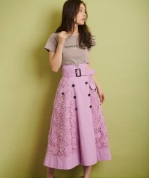 Noela/★【Ray4月号掲載】レースミックストレンチスカート/501599484