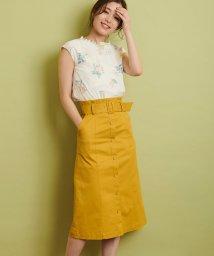 Noela/【美人百花5月号・4月号掲載/mamagirl4月号掲載】配色ステッチAラインスカート/501599486