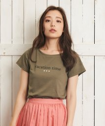Noela/【Ray6月号掲載】【vacation time】ロゴTシャツ/501599501