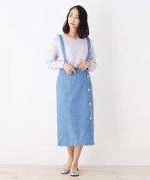 pink adobe/デニムサスペンダー付タイトスカート/501599838