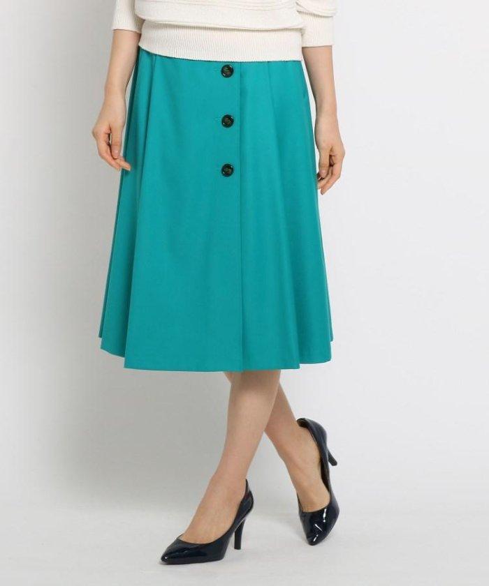 【洗える】ボタンラップ風スカート