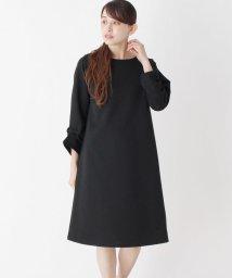 pink adobe/リップル袖タックワンピ/501573662