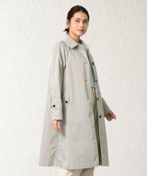 SANYO COAT/<Spring Coat>ダブルクロス先染めツイルステンカラーコート/501600753