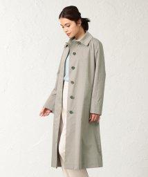 SANYO COAT/<Spring Coat>先染めシルクコットンベルテッドコート/501600757