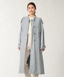 SANYO COAT/<BLUEFLAG+kiminori morishita>綿麻タイプライタースタンドカラーベルテッドコート/501600760