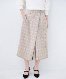 haco!/動きやすいのにちゃんと女子見え スカートみたいな華やかチェックパンツ/501587418