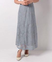 axes femme/ボーダーレースロングスカート/501593512