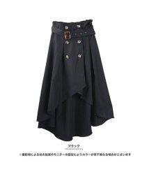 GROWINGRICH/[ボトムス スカート]フィッシュテールは細見えの味方 トレンチ風アシンメトリースカート[190103]/501600441