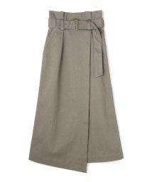 PROPORTION BODY DRESSING/《BLANCHIC》リネンライクオックスマキシラップスカート/501600876