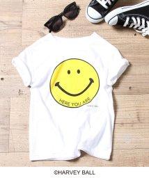 coen/【ママとお揃い・coen キッズ / ジュニア】スマイルプリントTシャツ/501603412