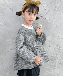 子供服Bee/ギンガム チェック フリルスモック/501615455