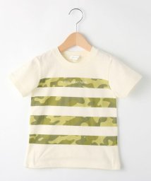 3can4on(Kids)/【90cm~150cm】迷彩ボーダープリントTシャツ/501615844