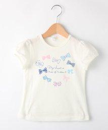 3can4on(Kids)/【コットン100%】【90cm~150cm】ハートリボンプリントTシャツ/501615845