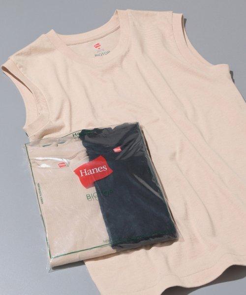 ADAM ET ROPE'(アダム エ ロペ)/【Hanes FOR BIOTOP】Sleeveless T-Shirts(カラー)/BLM39550
