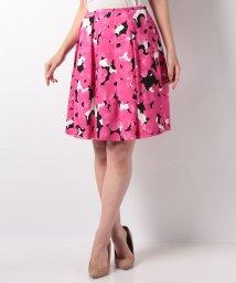 MISS J/【洗える】ジョーゼット フラワープリント スカート/501599751