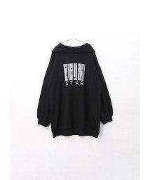 HAPPY EXP/ロゴプリント裏毛BIGパーカー/501603118