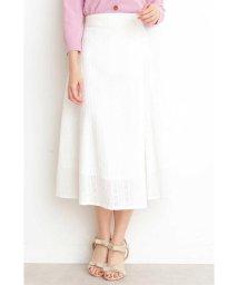 PROPORTION BODY DRESSING/コットンアイレットミディフレアースカート/501603443