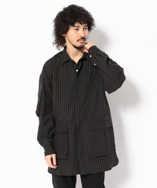 LHP(エルエイチピー)/DankeSchon/ダンケシェーン/ストライプBIGシャツ/6016191057-60
