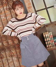 MAJESTIC LEGON/配色ステッチポケットスカート/501617811
