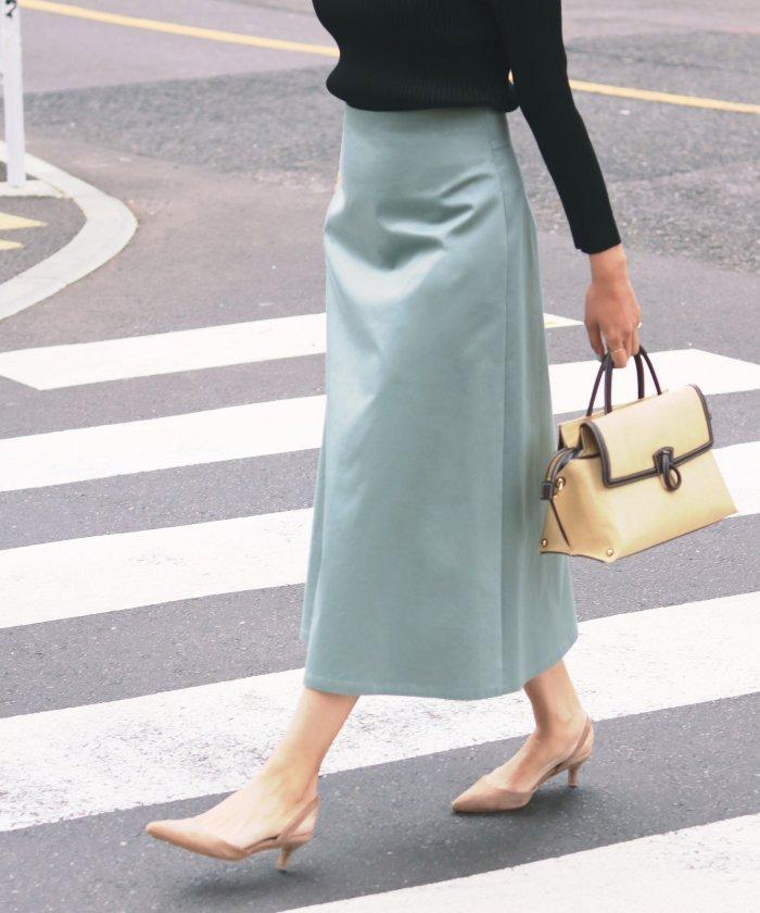 【IENA】サテントラペーズスカート