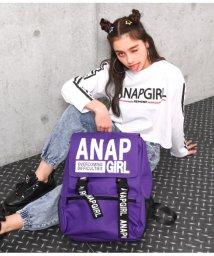 ANAP GiRL/フラップ付ビッグリュック/501566057