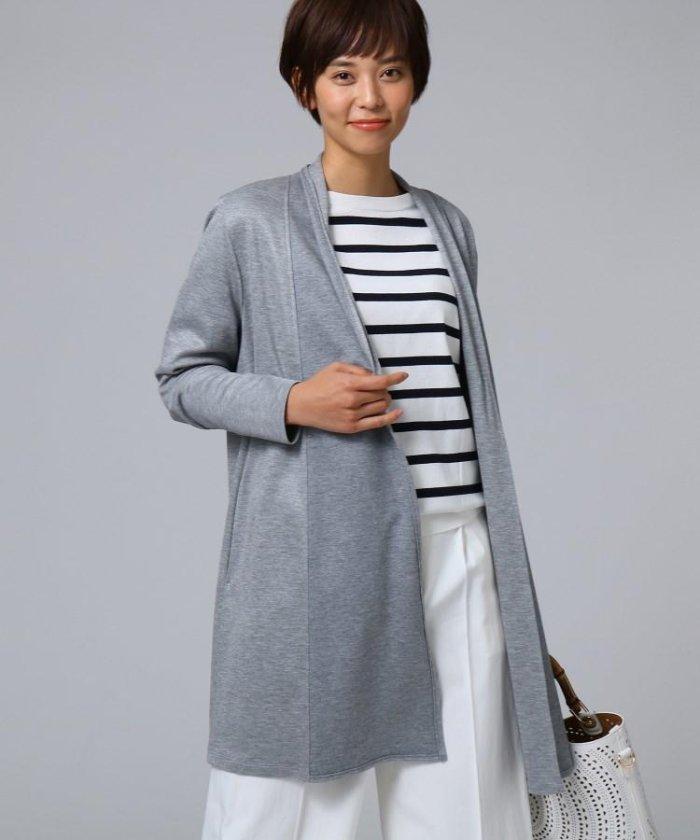 ◆[L]【洗える】オープンフロントリバージャケット