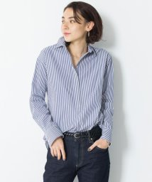 NIJYUSANKU(LARGE SIZE)/【マガジン掲載】CANCLINI ストライプチュニックシャツ(検索番号F33)/501620752