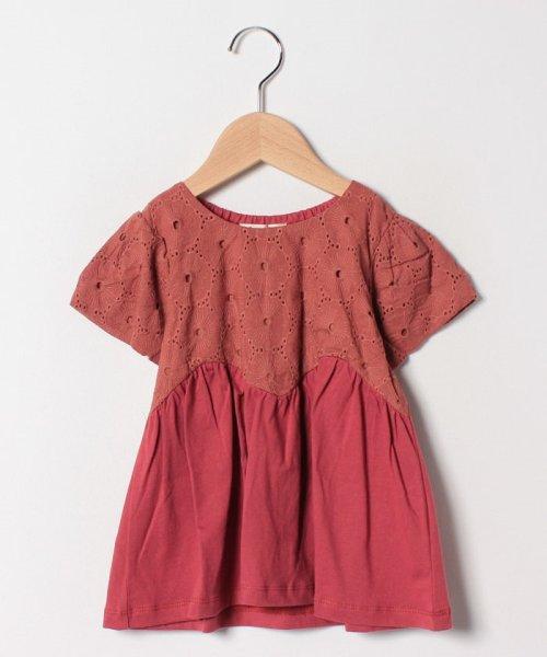Gemeaux(ジェモー)/レース切替半袖Tシャツ/GA8299