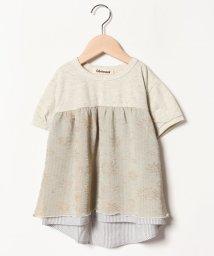 Gemeaux/きらきら切替半袖Tシャツ/501592438