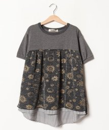 Gemeaux/きらきら切替半袖Tシャツ(150cm)/501592439