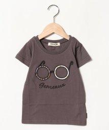 Gemeaux/メガネアップリケ半袖Tシャツ/501592440