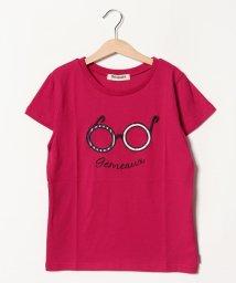 Gemeaux/メガネアップリケ半袖Tシャツ(150cm)/501592441