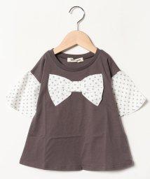 Gemeaux/リボン半袖Tシャツ/501592442