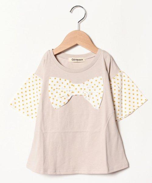 Gemeaux(ジェモー)/リボン半袖Tシャツ/GA8311