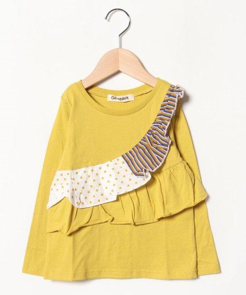 Gemeaux(ジェモー)/切替フリル長袖Tシャツ/GA8315