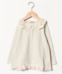 Gemeaux/衿レース半袖Tシャツ/501592448