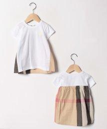 Gemeaux/チェック切替半袖Tシャツ/501592456