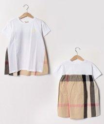 Gemeaux/チェック切替半袖Tシャツ(150cm)/501592457