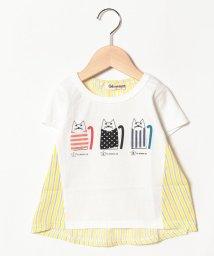 Gemeaux/ネコアップリケ半袖Tシャツ/501592460