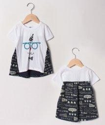 FORTYONE/LOVE柄メガネ半袖Tシャツ/501593599