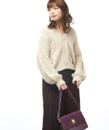 NICE CLAUP OUTLET/【natural couture】キラキラカーデ/501600483