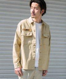 URBAN RESEARCH Sonny Label/ピーチツイルミリタリーシャツ/500700950